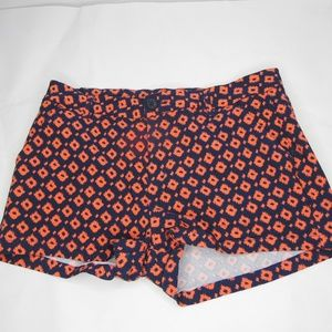 🍉 Bebop Geometric Print Shorts Stretch Orange